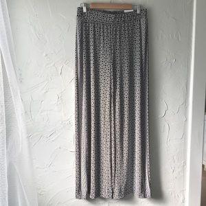 NWT! WHBM Mixed Print Knit Wide Leg Pants-Small